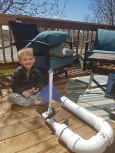 Our paper rocket launcher